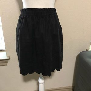 J. Crew Scallop Sidewalk Skirt